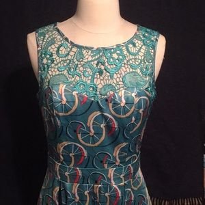 Tatyana Blue Bicycle Dress Size L